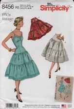 Simplicity Sewing Pattern 8456 Misses Vintage Petticoats Size 14-22