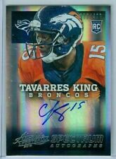 2013 ABSOLUTE RC SPECTRUM SILVER AUTOGRAPHS 338/499  TAVARRES KING