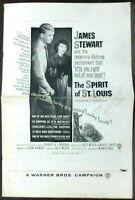 James Stewart as Lindbergh Aviation 1957 Original Pressbook Spirit of St. Louis