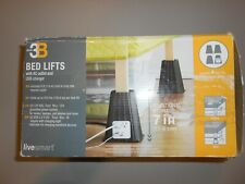 BB&B Studio 3B 4-Piece USB Bed Lift Set Risers Power Outlets USB Port 7""