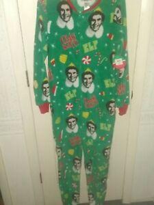 """Buddy The Elf """"OMG Santa"""" Christmas Plush Union Suit One Piece Pajamas"""