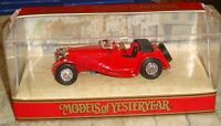 MATCHBOX - MODELS OF YESTERYEAR - JAGUAR SS100 SPORTS CAR - 1:38 - Y1-G -BOXED
