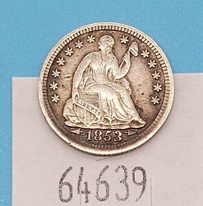 West Point Coins ~ 1853 Seated Liberty Half Dime w Arrows