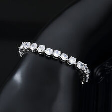 "6.00Ct Diamond Tennis Bracelet 6.5"" 1 Row Round Diamonds 14K White Gold Finish"
