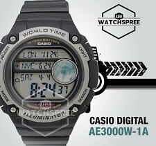 Casio Mens Digital Watch Casual Black Ae-3000w-1a