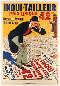 Original Vintage Poster - Eugene Oge - Inoui Tailor - Fashion - Marseille - 1912