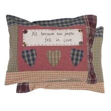 Kissen DINA Deko mit Inlett 35x50 cm  Blau Karo Cottage Cushion