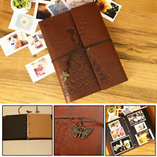 Vintage Self Adhesive Leather Photo Album large vintage Birthday/Aniversary A