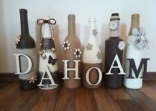 Dekoration, Flaschen, Deko-Flaschen, Handarbeit