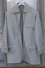 Gianni Versace men's true vintage solid gray shearling coat, size US 42/44 L