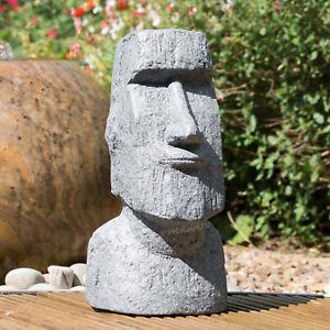 40cm Easter Island Moai Head Garden Statue Outdoor Sculpture Ornament Decking