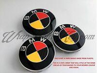 Alemania Deutschland Negro Rojo Amarillo para BMW Emblema Insignia Revestido