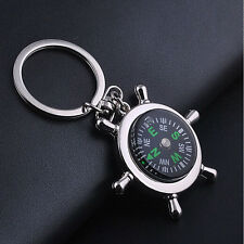 Keyring Keychain Key Chain Ring Keyfob New Unisex Fashion Compass Metal Car
