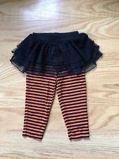 CARTER's Girls Tutu Skirt Leggings 24 Months Black/Orange Stripes baby Halloween