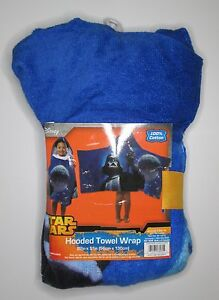 Disney Star Wars Darth Vader 100% authentic hooded towel wrap NWT children bath