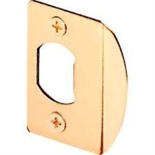 Prime-Line Products E 2349 Standard Latch Strike, 1-5/8 Inch, Steel, Brass Plate