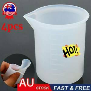 4Pcs Silicone Measuring Cup Resin Glue DIY Tool Jewelry Make New AU