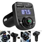 Bluetooth Car Kit Wireless FM Transmitter Dual USB Charger Audio WMA MP3 Player