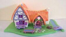 Vintage Bluebird Polly Pocket Snow White Seven Dwarfs Light Up Cottage House