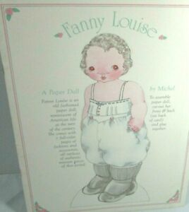 Vintage Fanny Louise By Michel Paper Doll Book Turn Of The Century CATS