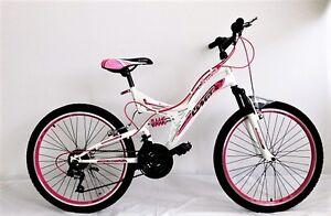 """24 Zoll Mädchenfahrrad Jugendfahrrad 24""""Mountenbike Kinderrad  21 GANG Pink Neu"""