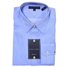 Tommy Hilfiger Mens Dress Shirt Regular Fit Spread Point Collar Classic New Nwt
