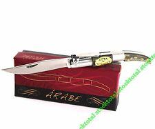 Arab knife handle horn bull horn bull pocket knives messer sheet 7 cm 01051 m