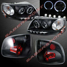 Black Halo Projector Headlights + Taillights for 1997.8-2000 F-150 Flareside