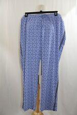 Talbots Women's Lounge Pants  -  NWT - Plus Size 3X - Royal Blue/White