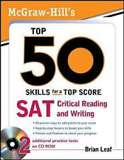 McGraw-Hill's Top 50 Skills SAT Critical Reading and Writing with CD-ROM