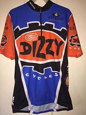 Sugoi Cycling Bike Jersey Shirt DIZZY Cycles Vancover Canada Men's Medium
