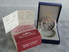10 euros BE France 2011 argent - CHARLES LE CHAUVE SILVER RARE !!