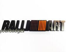 NEW Matt Black Metal Ralli Art Ralliart Car Badge Mitsubishi Lancer Evo