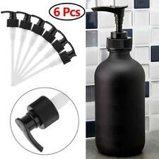 6Pcs Black Hand Soap Lotion Dispenser Pumps Nozzle Lid for Mason Jars Bottle
