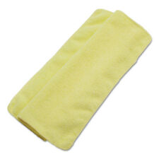 Boardwalk Lightweight Microfiber Cleaning Cloths Yellow 16 x 16 24/Pack