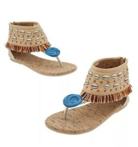 Disney Moana Fringe Thong Sandal Girls 2-3 Bohemian Summer Kids Costume Sandal