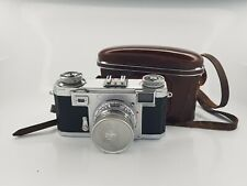 Zeiss Ikon Contax IIa with Opton Sonnar 50/1.5 + leather case + lens. Excellent