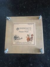 Vintage Wooden Flower Press With Instructions In Very Good Condition In Storage