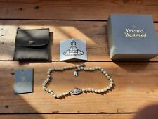 Vivienne Westwood pearl necklace silver genuine... was a gift