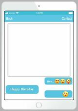 iPhone Happy Birthday Photo Booth Selfie Picture Frame for Photography 48x68cm