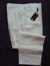 NWT GIANNI VERSACE 100% LINEN ITALY DRESS PANTS. SIZE 40/32