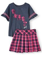 Garanimals Toddler Girls Ruffle Sleeve T-Shirt with Pleated Skort Outfit Set 3T