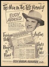 1948 Eddy Arnold photo RCA Victor Records vintage trade print ad