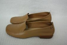 ak2 Anne Klein Beige Buck Leather Ladies Slip On Shoes New In Box Size 6 1/2