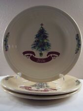 "2016 FIESTA Homer Laughlin DILLARD'S Christmas Tree 10.5"" DINNER PLATES Set Of 3"