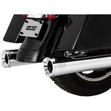 "Vance & Hines Chrome 4"" Eliminator 400 Slip-On Exhaust Mufflers for 2017 Harley"
