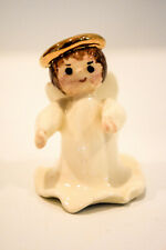 Porcelain Angel With Halo Miniature Hand Made Classic Figure