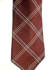 "Tommy Hilfiger Men' Silk Tie 57"" X 3.75"" Multi-Color Criscross pattern"