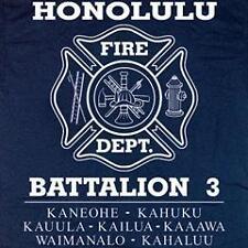 Honolulu Fire Department Battalion 3 Hawaii T-shirt  XL