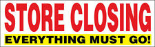 Store Closing Vinyl Banner Clearance Sale Sign Everything Go 3x10 ft - wr